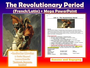 The Revolutionary Period:French to Latin American Lesson Bundle+ Mega PowerPoint