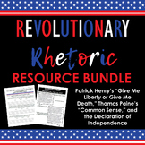 Revolutionary Rhetoric Bundle: Rhetorical Analysis & Argumentative Structure