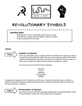 Revolutionary Symbols Project and Rubric | Revolution & Symbolism