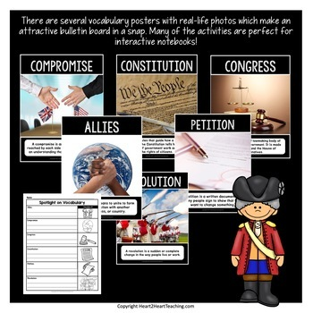 American Revolutionary War w/Articles, Activities, Organizers, Test, & More!