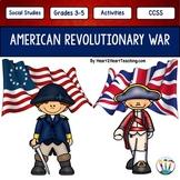 American Revolutionary War w/Articles, Activities, Organiz