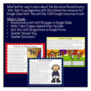 Revolutionary War Bundle {Articles, Activities, Organizers, Vocab & Powerpoint