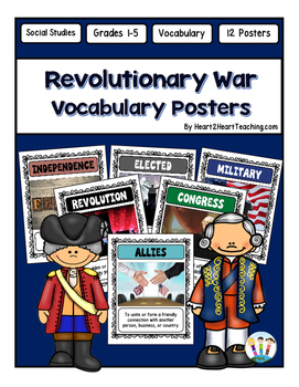 Revolutionary War Vocabulary Posters & Activities