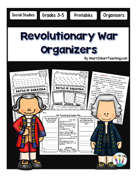 American Revolution Organizers - Causes, Battles, Results