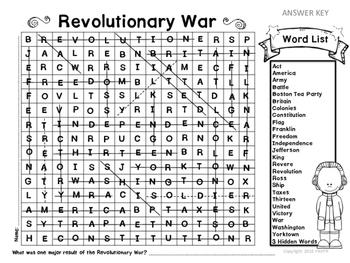 Revolutionary War Word Search