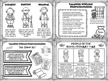 Revolutionary War - ANCHOR CHARTS FOR STUDENTS - Black/White