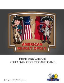 Revolutionary War:  American Revolt Opoly