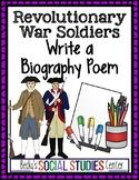 Revolutionary War - American Revolution - Biography Poem of a Soldier