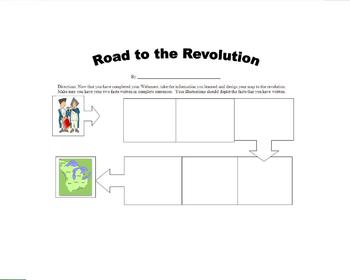 Revolutionary War Assessment:  Causes of the Revolutionary War Webquest
