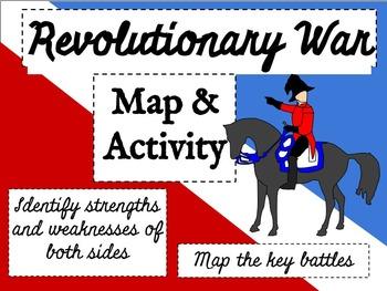 Revolutionary War Battle Map Activity - CCSS Aligned