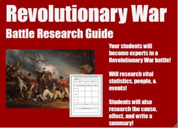 Revolutionary War Battle Research Guide!