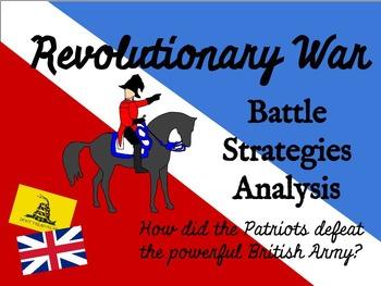 Revolutionary War Battle Strategies Activity - CCSS Aligned