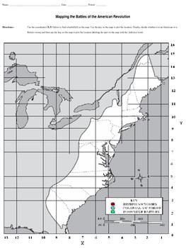Revolutionary War Battlefields Map