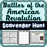Revolutionary War Battles Scavenger Hunt -Task Cards - American Revolution
