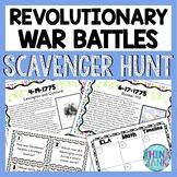 Revolutionary War Battles Scavenger Hunt -Task Cards - American Revolution