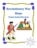 Revolutionary War Bingo: Virginia Studies SOLs 5a-5c