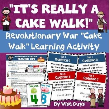 American Revolution Revolutionary War Cake Walk Game