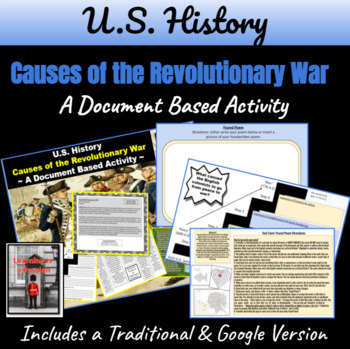 Revolutionary War Causes: From Peace to War Document Based Activity