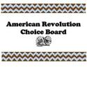 Revolutionary War Choice Board Project