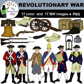 revolutionary war clip art by the artventurous life tpt rh teacherspayteachers com american revolutionary war clipart revolutionary war clipart free