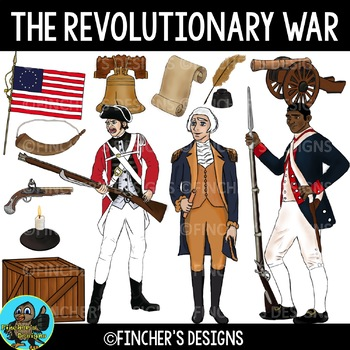 Revolutionary War Clip Art for Personal and Commercial Use