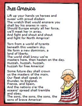 Revolutionary War Close Read with Song Lyrics Grades 3, 4, 5 (History and ELA)