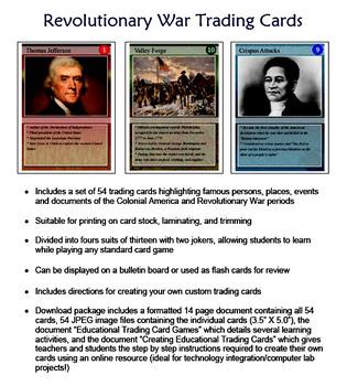 Revolutionary War Trading Cards