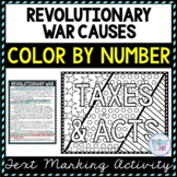 Revolutionary War Color by Number : American Revolution Activity