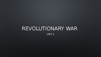 Revolutionary War Core Lesson 1