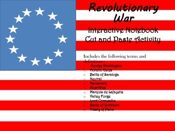 Revolutionary War Cut and Paste