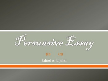 Revolutionary War Debate & Essay