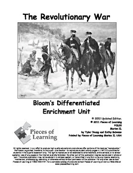 Revolutionary War - Differentiated Blooms Enrichment Unit