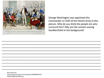 Revolutionary War Document Based Questions Pack