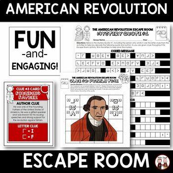 Revolutionary War Escape Room Activity