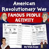 Revolutionary War Famous People Activity