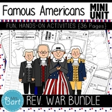 Revolutionary War Famous Americans Bundle- NO PREP Mini Units