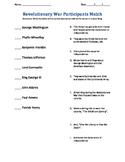 Revolutionary War Figures Worksheet