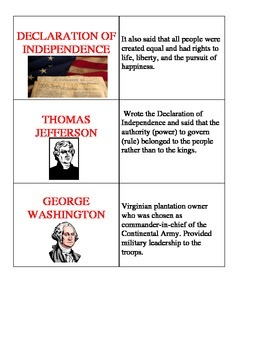 Revolutionary War Flashcards