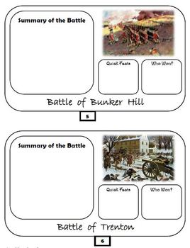 Revolutionary War Flipbook - Google Drive - Interactive Notebook Possibility