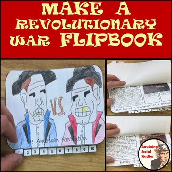Revolutionary War Flipbook in Printable .pdf  - Interactive Notebook Possibility