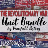 American Revolution Full Unit Bundle Critical Thinking and Assessment
