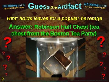 """Revolutionary War """"Guess the Artifact"""" game with pictures & clues (2 of 10)"""
