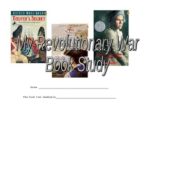 Revolutionary War Guided Reading Book Project--FOR ANY BOOK
