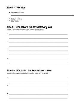 Revolutionary War Hero Powerpoint Project