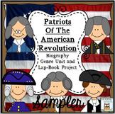 Lap Book: Revolutionary War | Biography Genre Literacy Unit Freebie