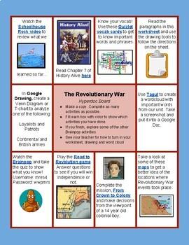 Revolutionary War HyperDoc