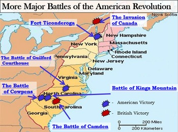 Revolutionary War Interactive Battle Map Part Ii And Worksheet W Key - Us-history-map-activities-answer-key-american-revolution