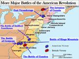 Revolutionary War Interactive Battle Map (Part II) and Wor