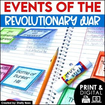 Revolutionary War - American RevolutIon Interactive Notebook and Unit