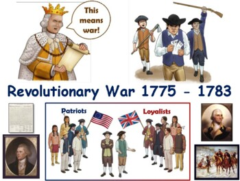 Revolutionary War Lesson & Flashcards - task cards, study guide, exam prep